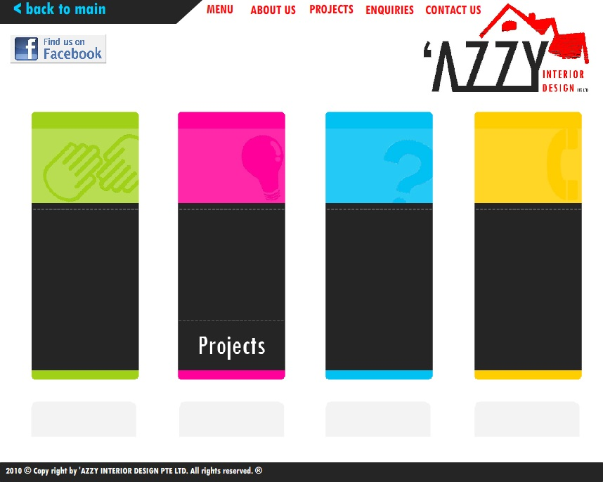 Website Design For AZZY Interior Pte Ltd Currently Unavailable Company In Singapore Software Adobe Photoshop